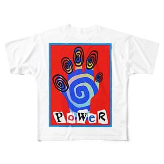 ハンドパワーティーシャツ Full graphic T-shirts