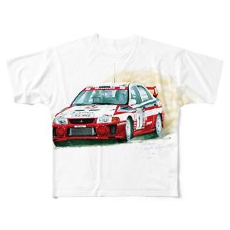 1998年三菱ランサーエボリューションⅤ GroupA Full graphic T-shirts