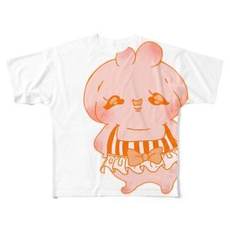 ロップウサギちゃん Full graphic T-shirts
