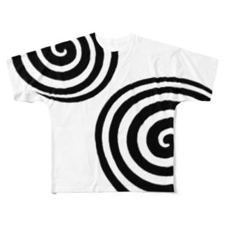 渦渦 Full graphic T-shirts