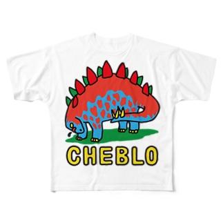 ザウリ 赤青 Full Graphic T-Shirt