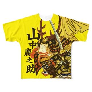 戦国武将 山中鹿之助 Full graphic T-shirts