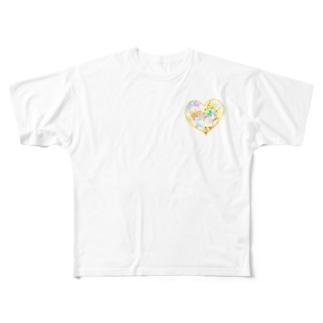 【背面どあっぷ】《3》*ふわあま*どるちぇちわわ* Full graphic T-shirts
