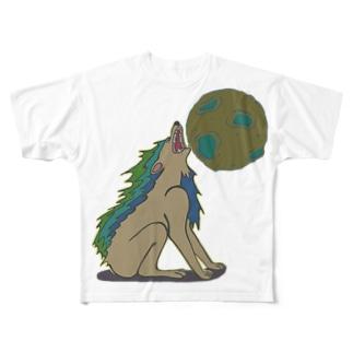 雄叫び Full graphic T-shirts