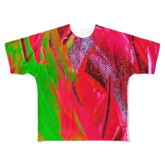 FLOWER FLAME Full graphic T-shirts