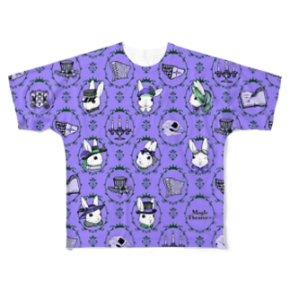 ゴシックウサギ(紫) Full graphic T-shirts
