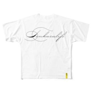 テンカラTシャツ・テンカラライフロゴ Full graphic T-shirts