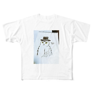 snowy owl Full graphic T-shirts