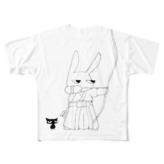 ウサギの弓道 Full graphic T-shirts