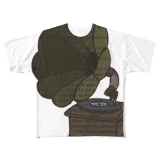 蓄音機 Full graphic T-shirts
