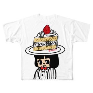 ケーキハット Full graphic T-shirts