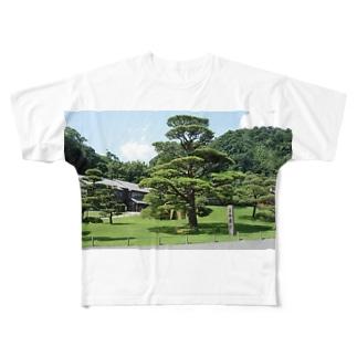 仙巌園の松 Full graphic T-shirts