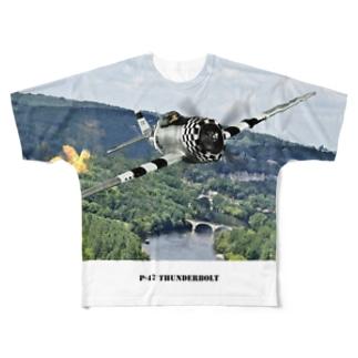 P-47 サンダーボルト Full graphic T-shirts