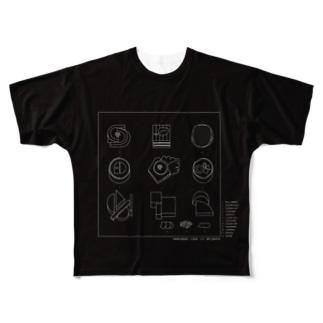 お寿司図面T Full graphic T-shirts