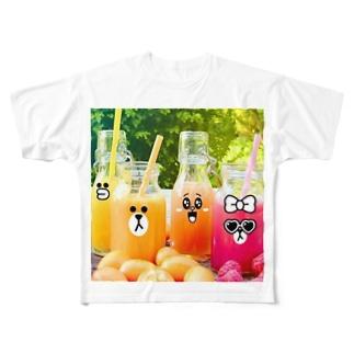 暑いね(;´Д`A Full graphic T-shirts