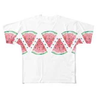スイカの種取っておきました Full graphic T-shirts