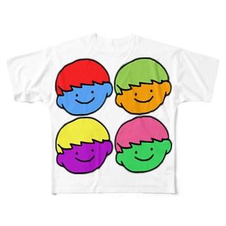 体調があまりよくないちゃん Full graphic T-shirts