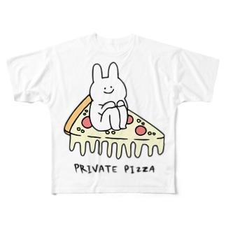 自家用ピザちゃん Full graphic T-shirts