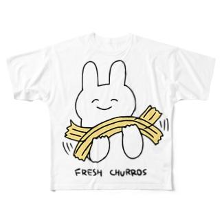 活きの良いチュロスちゃん Full graphic T-shirts