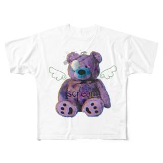 くまのギーッッちゃん Full graphic T-shirts
