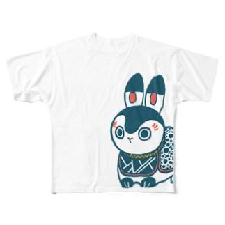 張り子うさぎ  Full graphic T-shirts