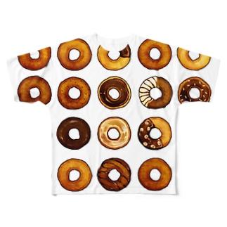 ドーナッツ Full graphic T-shirts