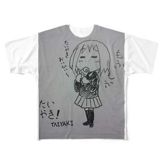 yurzukiのイケてる女の子 Full graphic T-shirts
