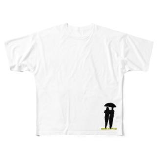 【リメイク】相合傘T(右下)  Full graphic T-shirts