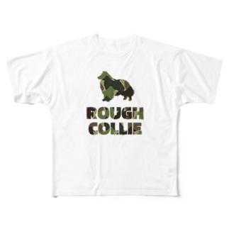 ラフコリー 迷彩柄 Full graphic T-shirts