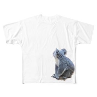 Buffys Movie キャラクター事業部のコアラの背中 Full graphic T-shirts