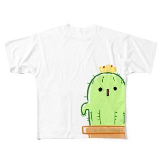 やさしいサボテン Full graphic T-shirts