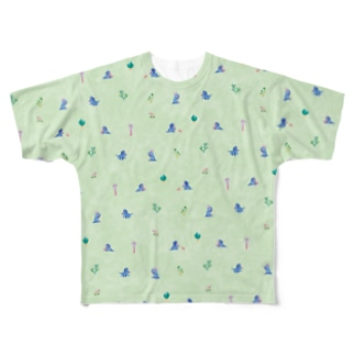 Triceratops - green Full graphic T-shirts