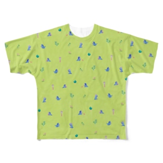 Triceratops - Apple green Full graphic T-shirts