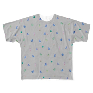 Triceratops - Gray Full graphic T-shirts