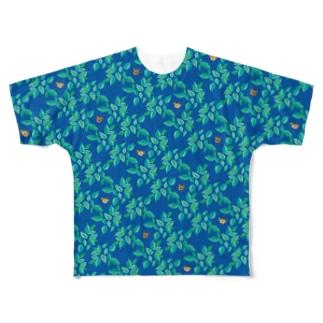 mint & bears - blue Full graphic T-shirts