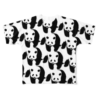 ぞろぞろパンダ Full graphic T-shirts