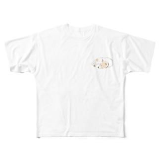 切り絵  草太の世界一可愛い犬 Full graphic T-shirts