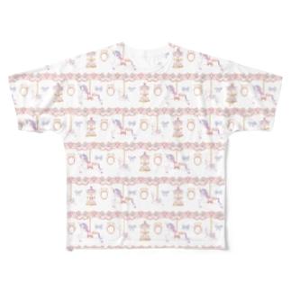 メリーゴーランド Full graphic T-shirts