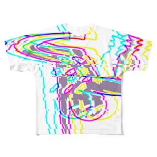 謎展開目チカチカT Full graphic T-shirts