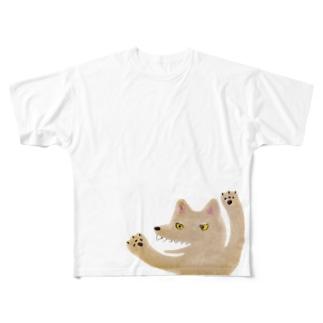 おおかみ Full graphic T-shirts