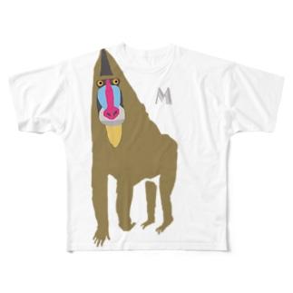 AWZマンドリル Full graphic T-shirts