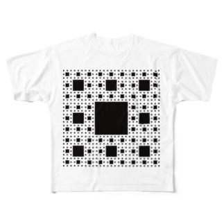 Fractal Sierpinski Carpet Full graphic T-shirts