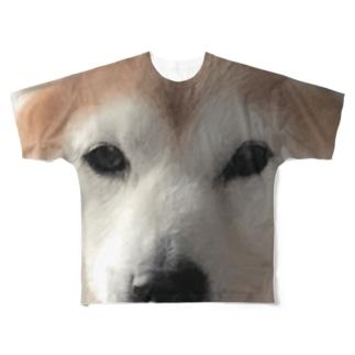犬がみている Full graphic T-shirts
