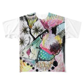 りぼん Full graphic T-shirts