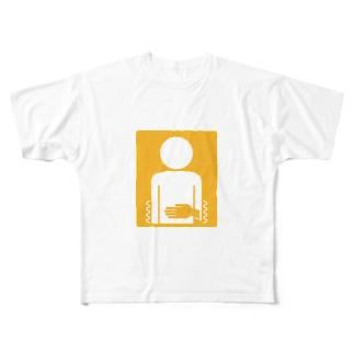 腹痛持ちマーク Full graphic T-shirts