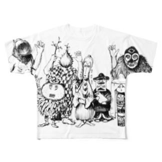 ウルシオールスターズとミヤコの人々 Full graphic T-shirts