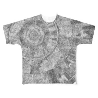細密柄A Full graphic T-shirts
