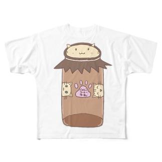 にゃんこ印のコーヒー牛乳 Full graphic T-shirts