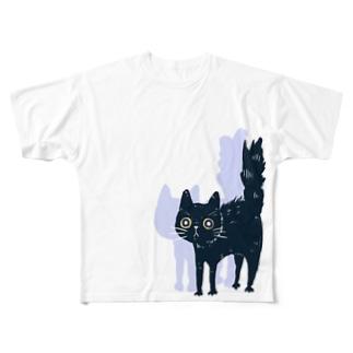 キャッとビックリ Full graphic T-shirts