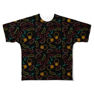 フルーツ Full graphic T-shirts